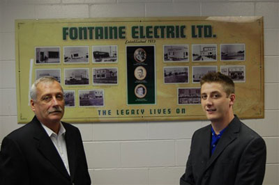 Robert and Andre Fontaine of Fontaine Electric Winnipeg